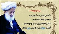 آیت الله مجتهدی تهرانی: گفتم به پیری رسم و توبه کنم.... (+کلیپ)